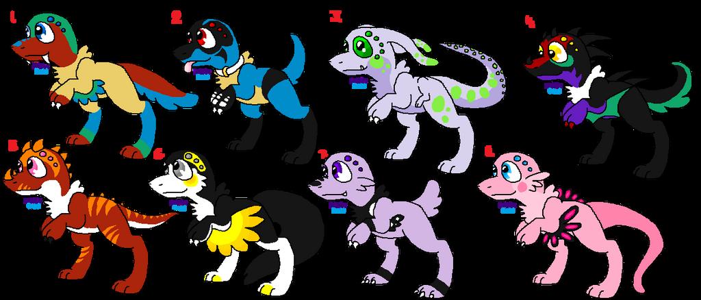 Pokemon Themed Fanglings (OPEN) (5 Points Each) by DetritusDroid