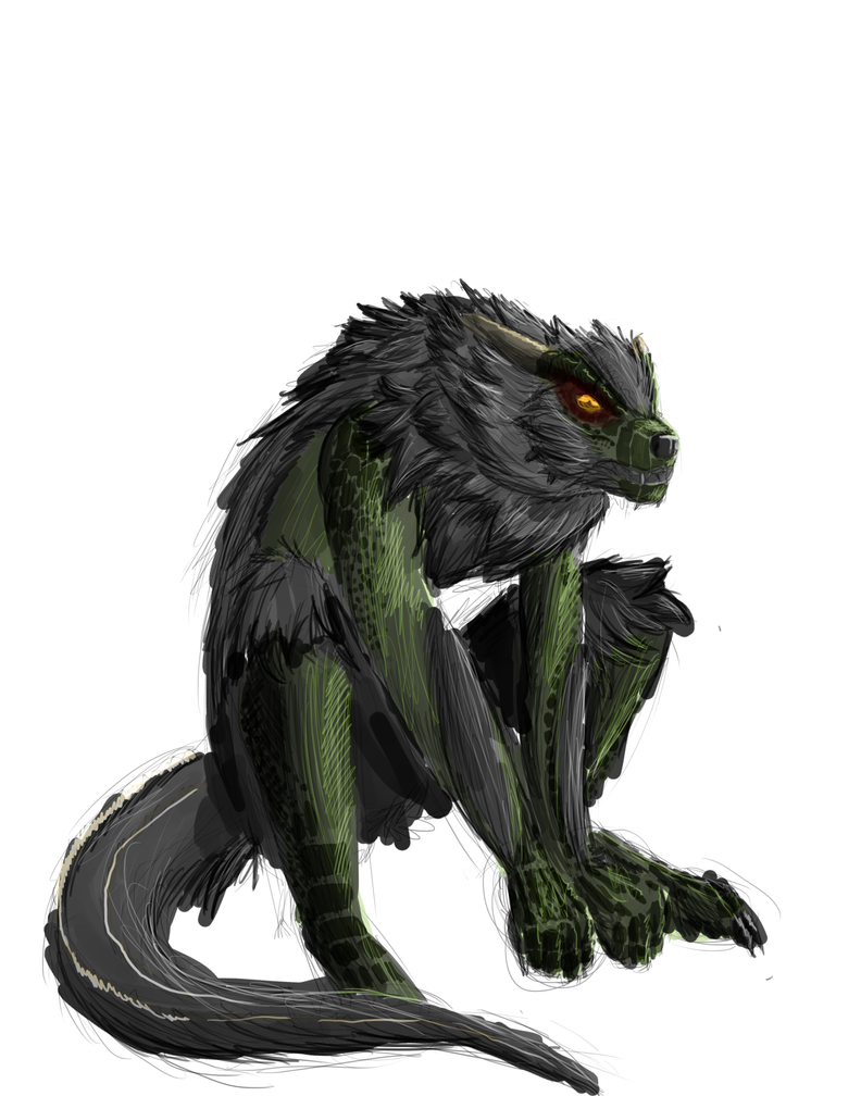 World of War and Peace PUNKAGGEDON Argonian_werewolf_wip_by_nuclearbones-d5evful