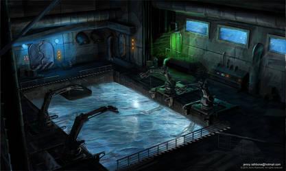 Underwater Docking Bay. by BunnyJen