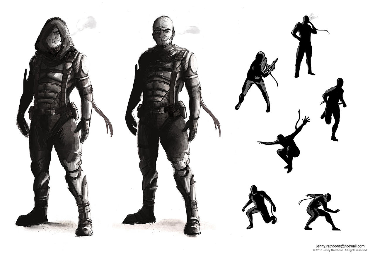 Character Design Concept Artist : Male character concept by bunnyjen on deviantart