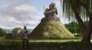 Motte and Bailey Castle by J-Humphries