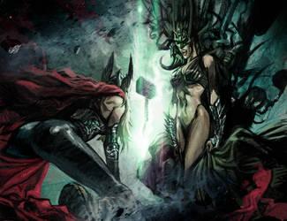 Waiting for Ragnarok- Hela and the New Thor by DanieleAfferni