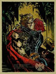 Natasha Romanoff Secret Lovers -Thor by DanieleAfferni
