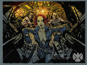 Natasha Romanoff Secret Lovers: Nat-King-Coulson by DanieleAfferni