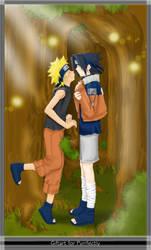 Naruto-Sasunaru-Giftart by MasterOfEvil