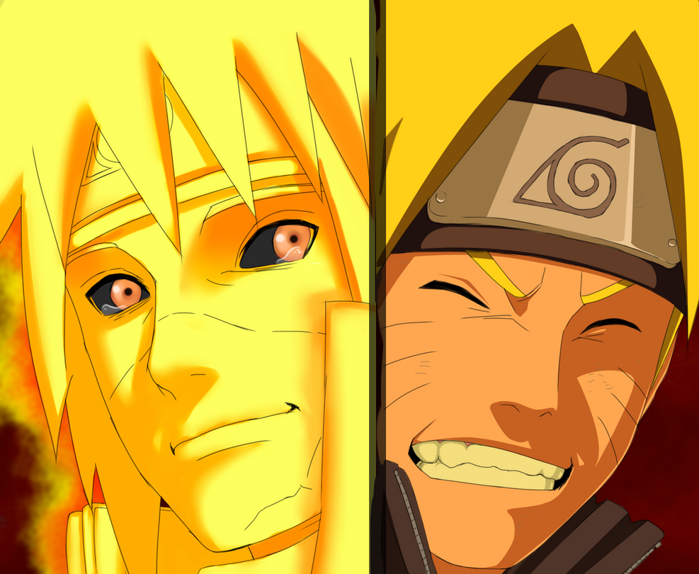 Naruto 644: Naruto and Minato by Fanklor