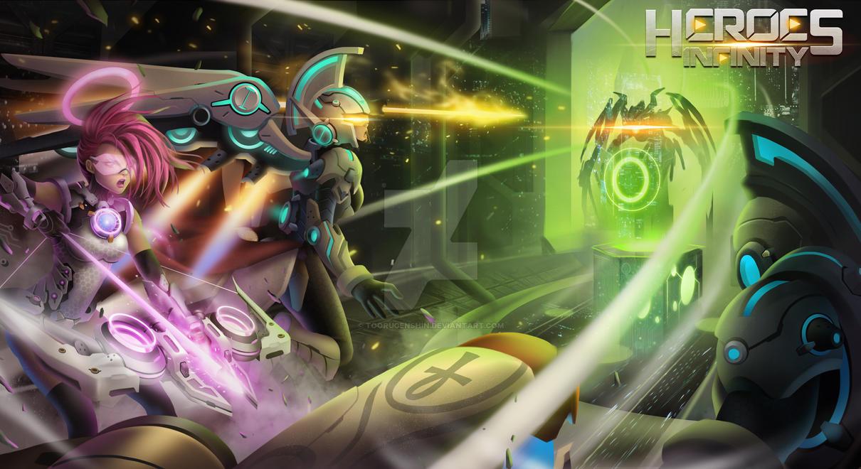 Heroes Infinity - Splashscreen by toorugenshin