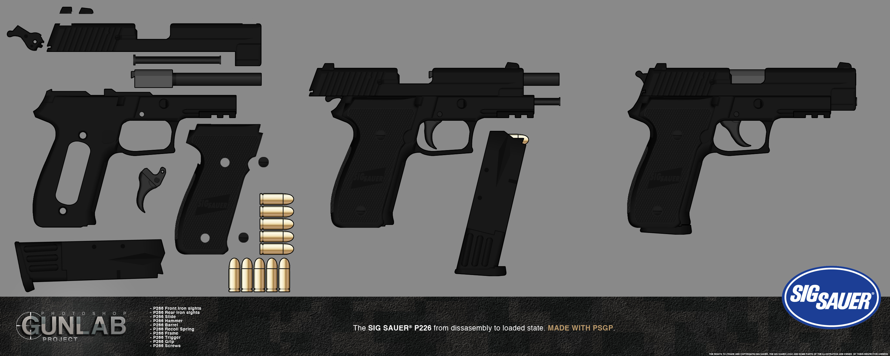 PSGP: SIG SAUER P226 ASSEMBLY DEMO by PSGunlabProject