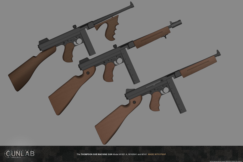 how to make a wooden thompson submachine gun