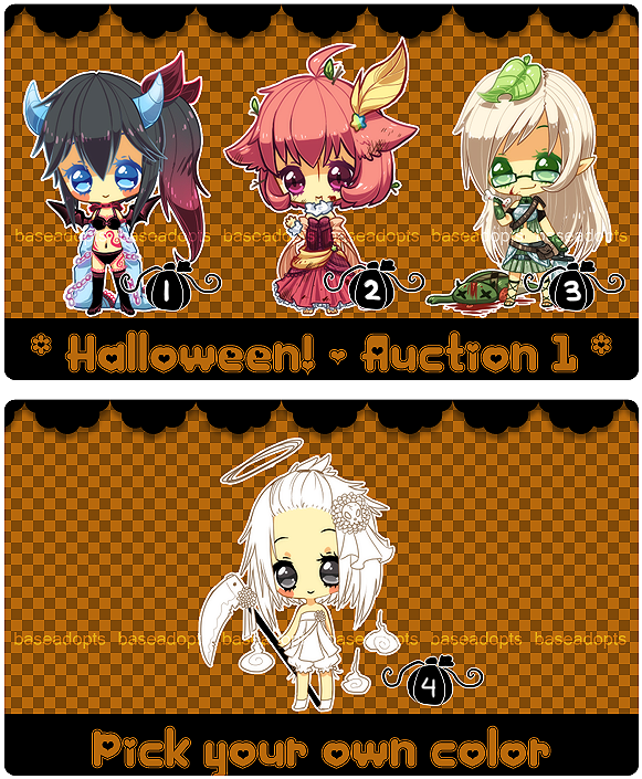 Halloween Auction [ Closed ] by BaseAdopts