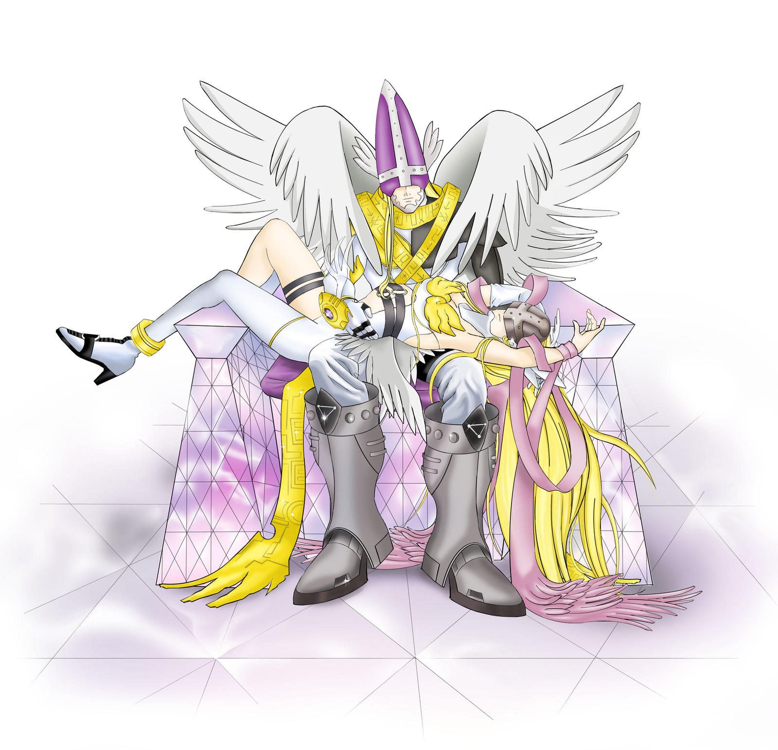 Holy Angemon and Angewomon by Ayhe on DeviantArt