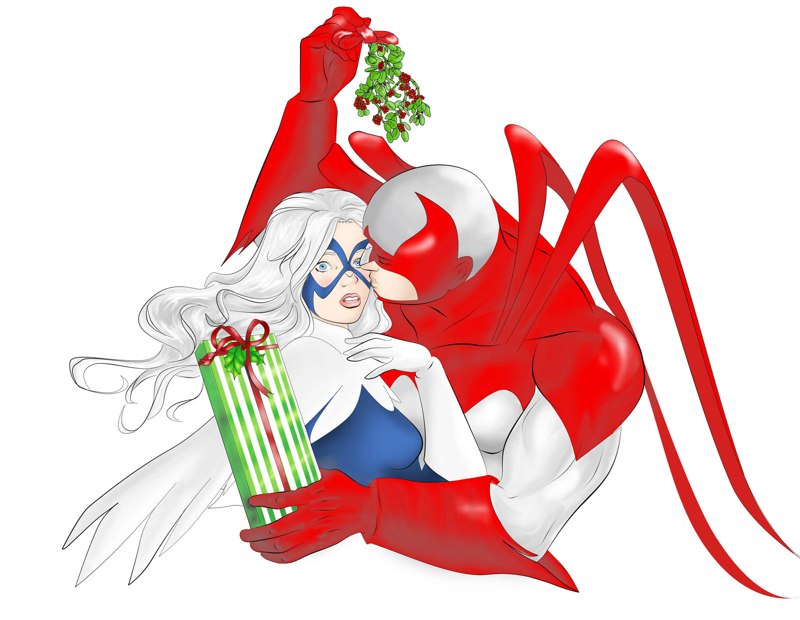 Hawk and Dove under the Mistletoe by Ayhe on DeviantArt