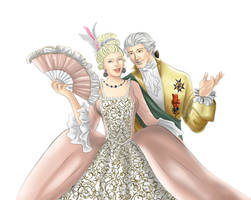 + Marie Antoinette et Charles Philippe + by Ayhe