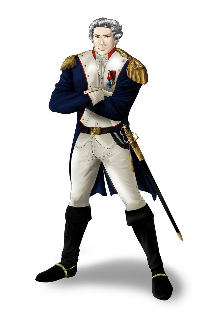 Gilbert du Motier, marquis de Lafayette by Ayhe