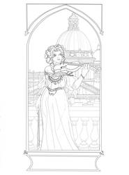 The violinist from Rome - Lineart by Ayhe