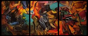 Picklocks, Black lightning, Hummingbird triptych