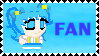 Confectionist Cerulean fan stamp by Llama-lady