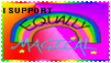 Stamp - I support Equally Magical by Llama-lady