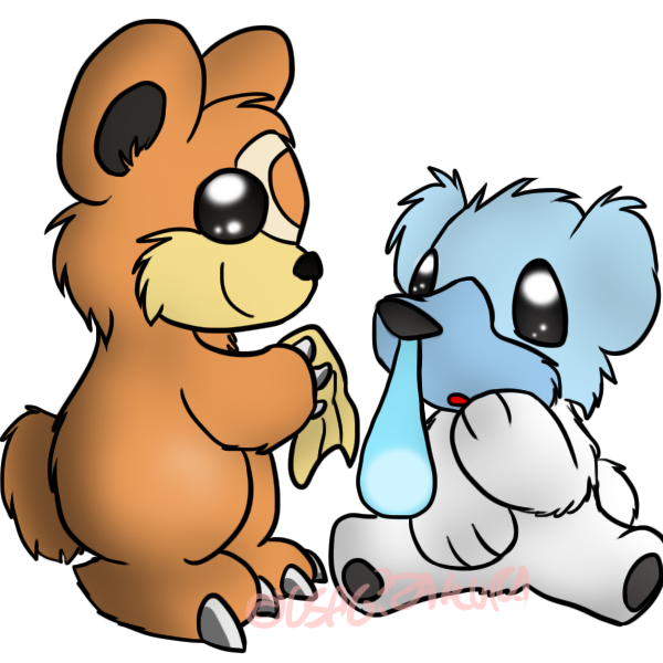 Pokemon Teddiursa And Cubchoo Cubchoo And Teddiursa by