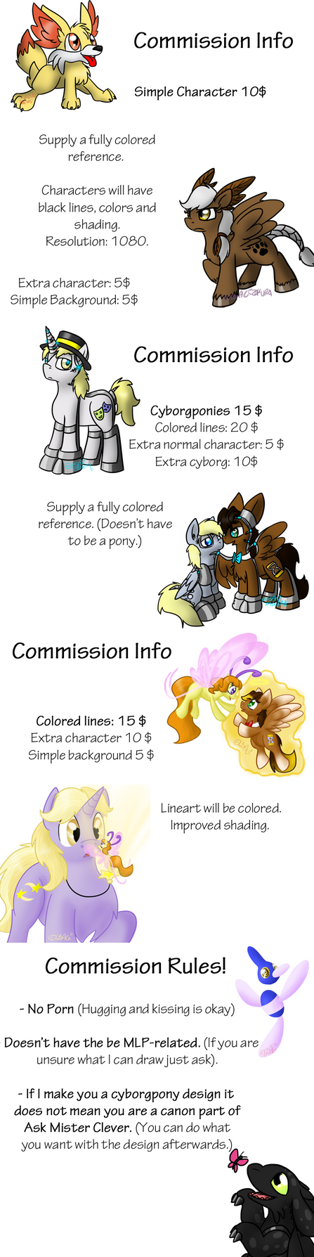 Updated Commissions. by Usagi-Zakura