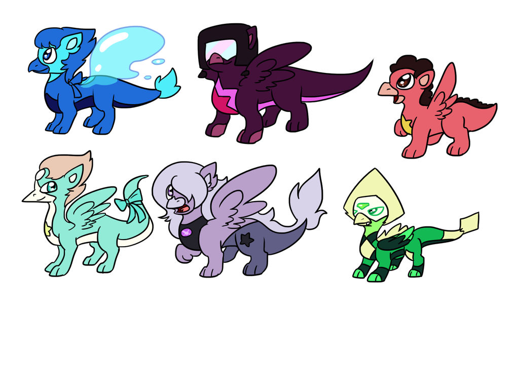 Crystal Gem Dragons by Usagi-Zakura on DeviantArt