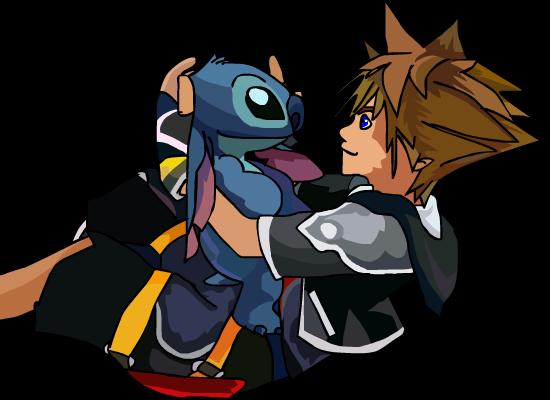Sora Kingdom Hearts Lineart : Kingdom hearts stitch by kitkatz on deviantart