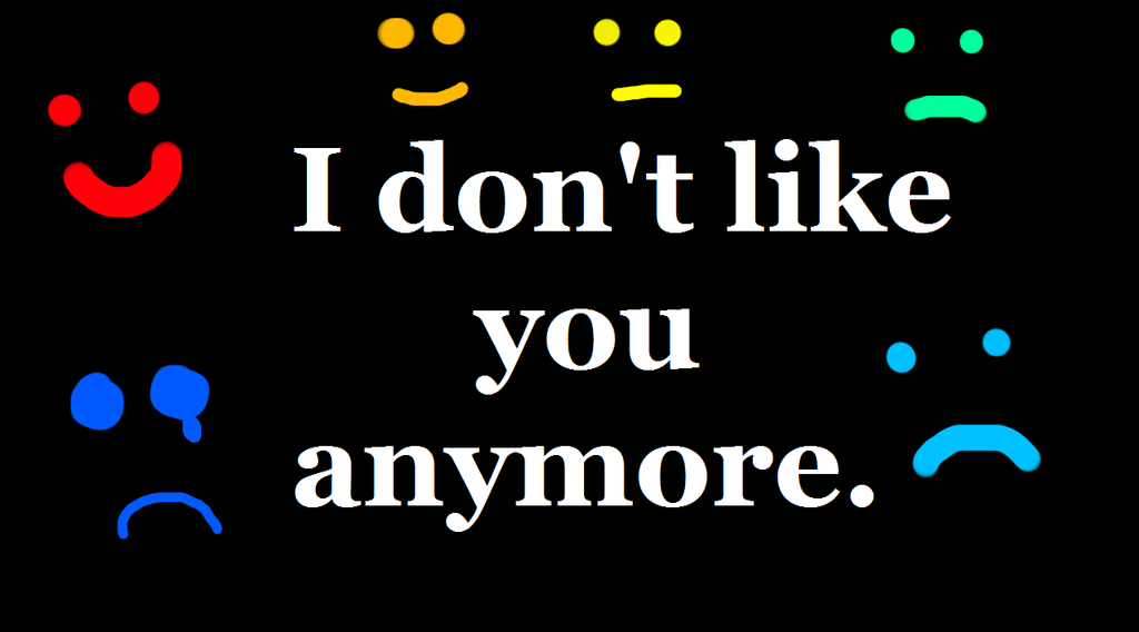 I Don't Like You Anymore by PercyJacksonRules123 on DeviantArt