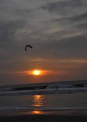 Sunset at Kuta Beach by rezaachmad