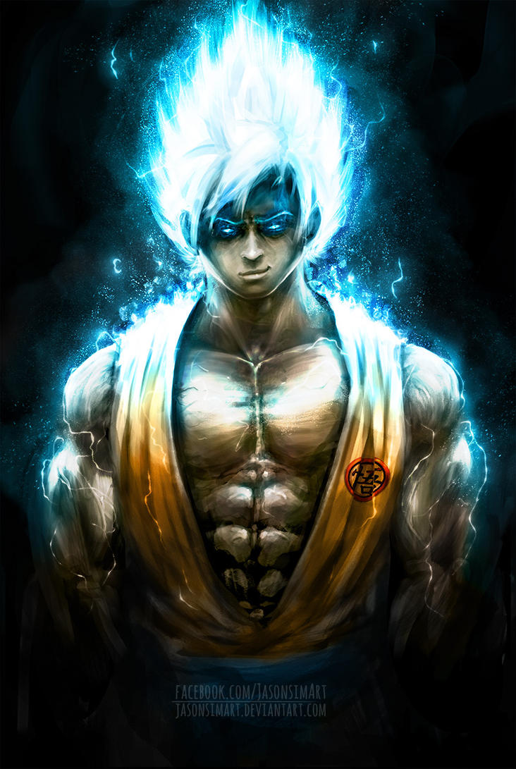 how to draw goku super saiyan god 4