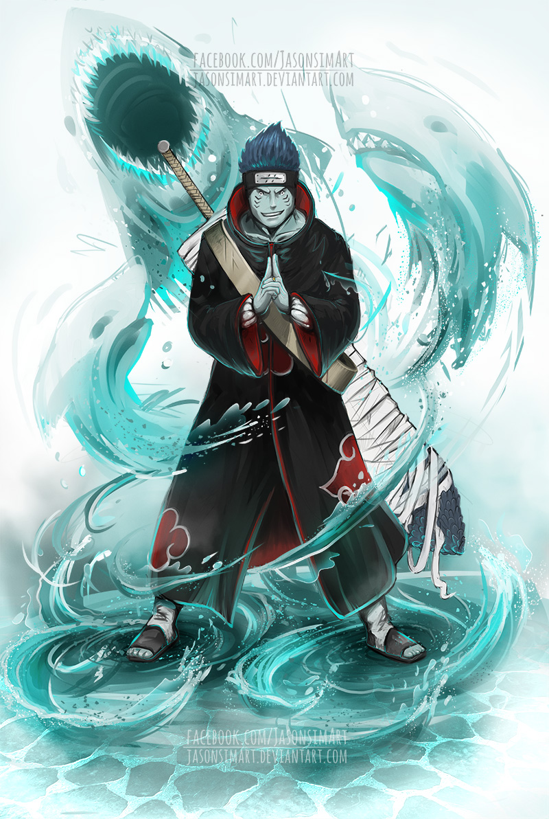 Kisame - the tailless tailed beast by JasonsimArt on ...