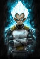 Vegeta Super Saiyan God by SimArtWorks