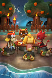 Animal Crossing Poker game