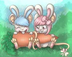 Kazu and Sabs ~ Easter by Sabusha-Sabs