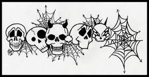 Skull Tattoo Wrist Band by mailorderchild