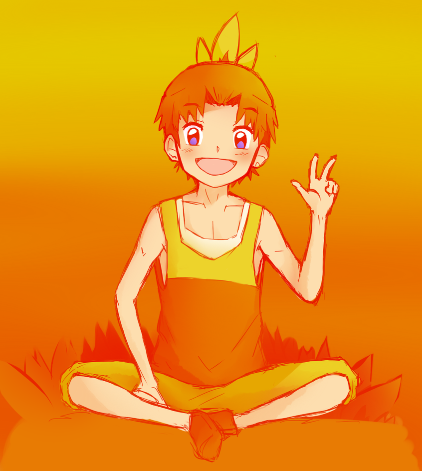 7 Days Color Challenge: DAY 2: Orange 'TORCHIC' by Misaka-Chan