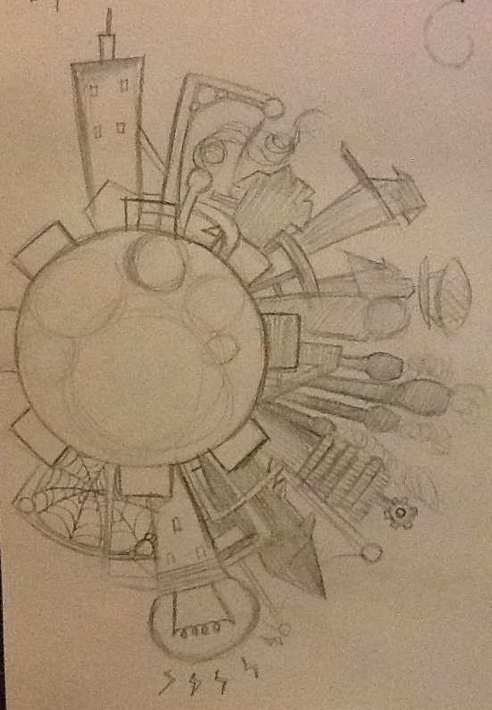 Steampunk planet: industry makes the world work by TheSilentArtist2225