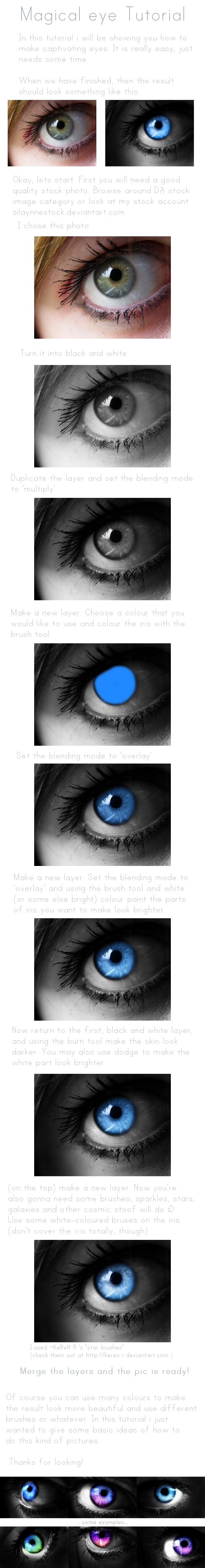 Magical eye: Tutorial by SilaynneStock