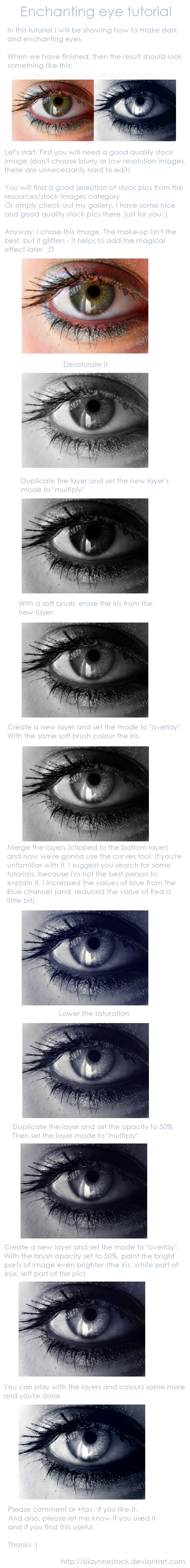 Enchanting eye: tutorial by SilaynneStock