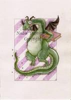 Nerdy Dragon by Nadia-Domingos