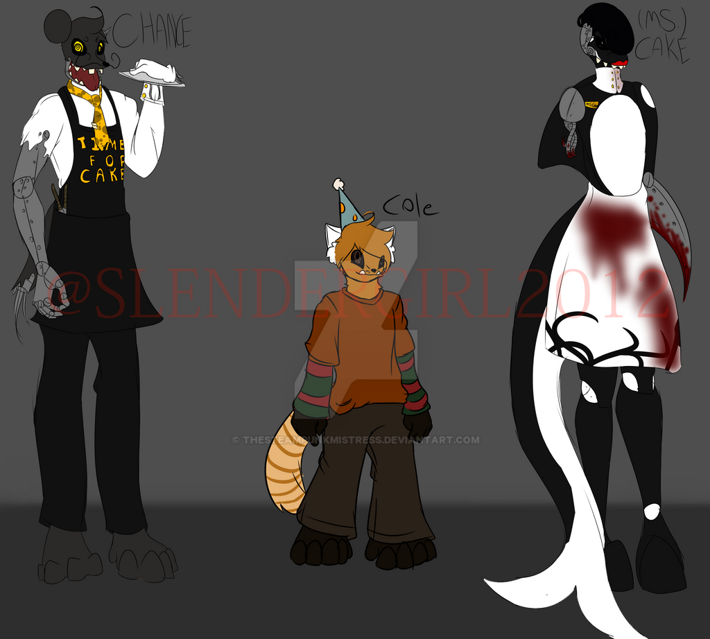 five nights at freddy s oc s by thesteampunkmistress on deviantart