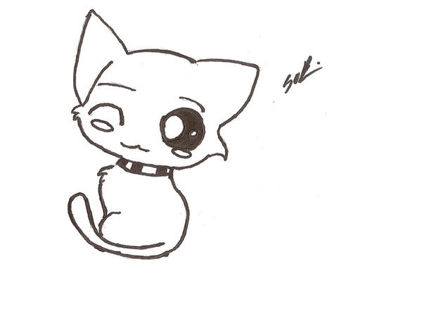 Anime Cat K Coloring Pages