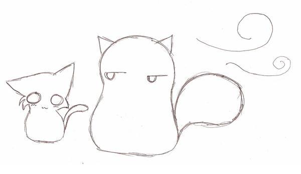 Cute Chibi Cat Drawing Chibi Cat Drawing