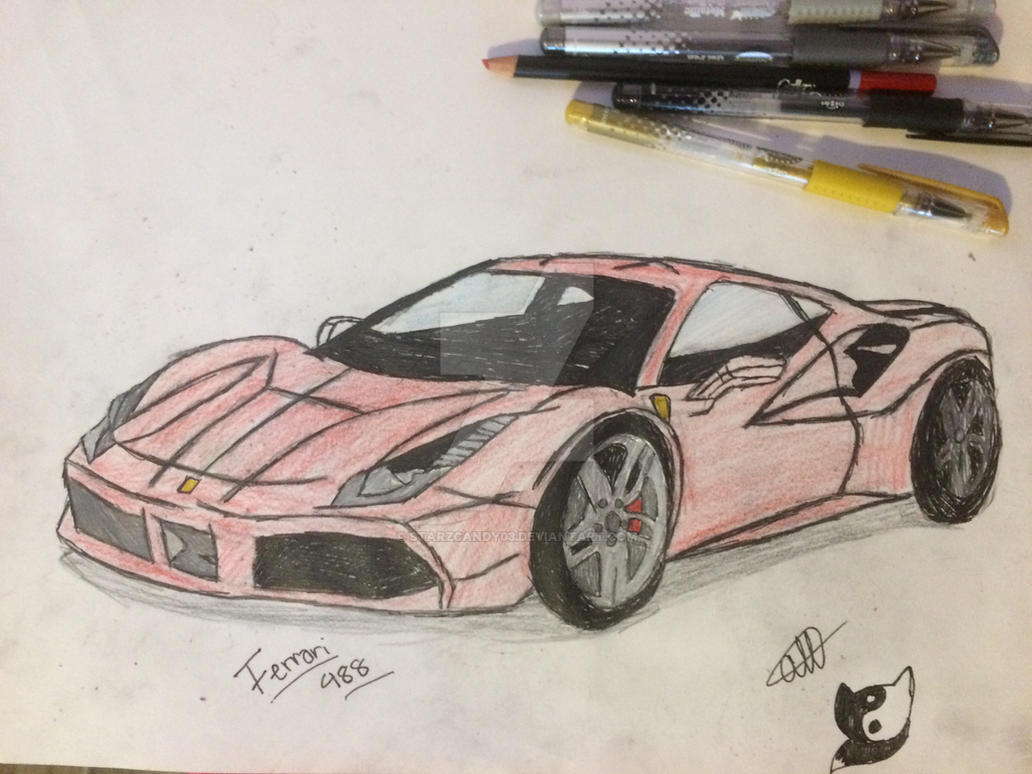 My fav car!!! Ferrari 488 by StarZCandy03