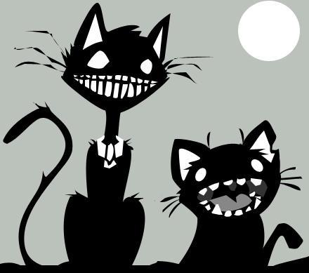Creepy Kitties by dakazi