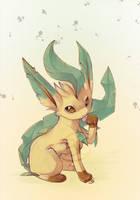 pokemon leafeon by tikopets