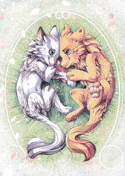 Valentine Wolves by tikopets