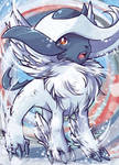 Pokemon absol aceo card commission