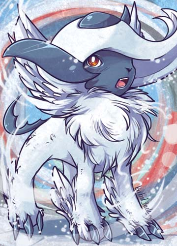 Pokemon absol aceo card commission by tikopets