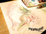 The Unicorn Bunny, painting
