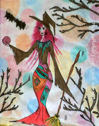 The Forrest Witch by Asleepyspiritart